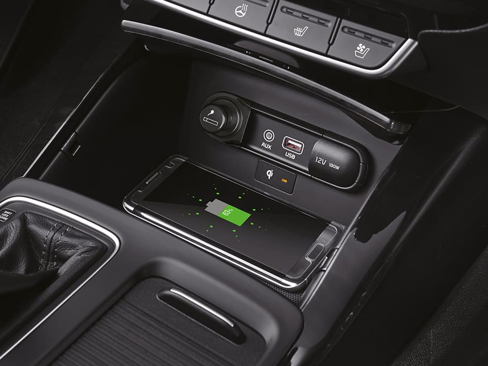 Kia Sorento wireless phone charger
